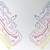 Printplaat patroon. abstracte technologie hi-tech printplaat textuur — Stockvector
