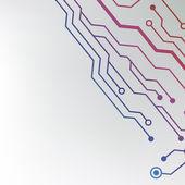Padrão de placa de circuito. abstratos tecnologia textura de placa de circuito de alta tecnologia — Vetor de Stock