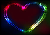 Valentine's day heart futuristic abstract space background. EPS10 vector illustration — 图库矢量图片