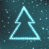 EPS10 christmas tree vector background — Stock Vector
