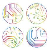 Sada vektorové barevné obvod kruhu kuliček — Stock vektor