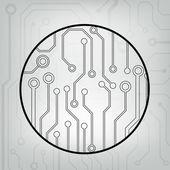 Eps10 vektor svart och grått krets cirkel bollen bakgrund — Stockvektor