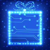 Eps10 Platine Weihnachten Geschenk Hintergrund — Stockvektor