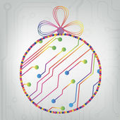 EPS10 vector circuit board ball christmas background texture — 图库矢量图片