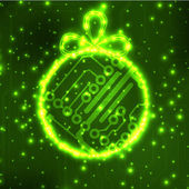 EPS10 vector circuit board ball christmas background texture — Stok Vektör