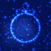 Eps10 vector circuit imprimé boule Noël fond texture — Vecteur