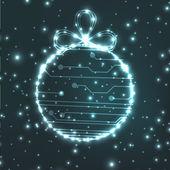 EPS10 vector circuit board ball christmas background texture — Vetorial Stock
