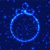 EPS10 vector circuit board ball christmas background texture — Stockvektor