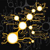 Circuit board techno background. EPS10 vector illustration pattern — Vecteur