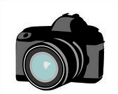 Professional camera — Stock Vector