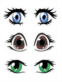 Beautiful eyes — Stock Vector