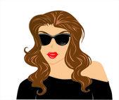 Garota de óculos de sol — Vetor de Stock