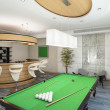 Part of Living Room with Billiard - Stock Photo