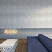 Near fireplace — Foto de Stock