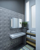 Grey bathroom — Stock Photo