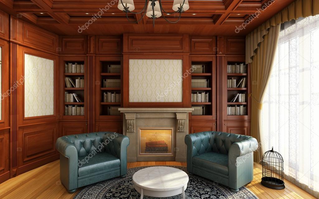 Klassieke kantoor aan huis stockfoto krooogle 15707427 - Klassiek kantoor ...