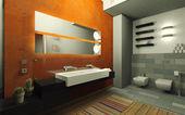 Orange bathroom — Stock Photo
