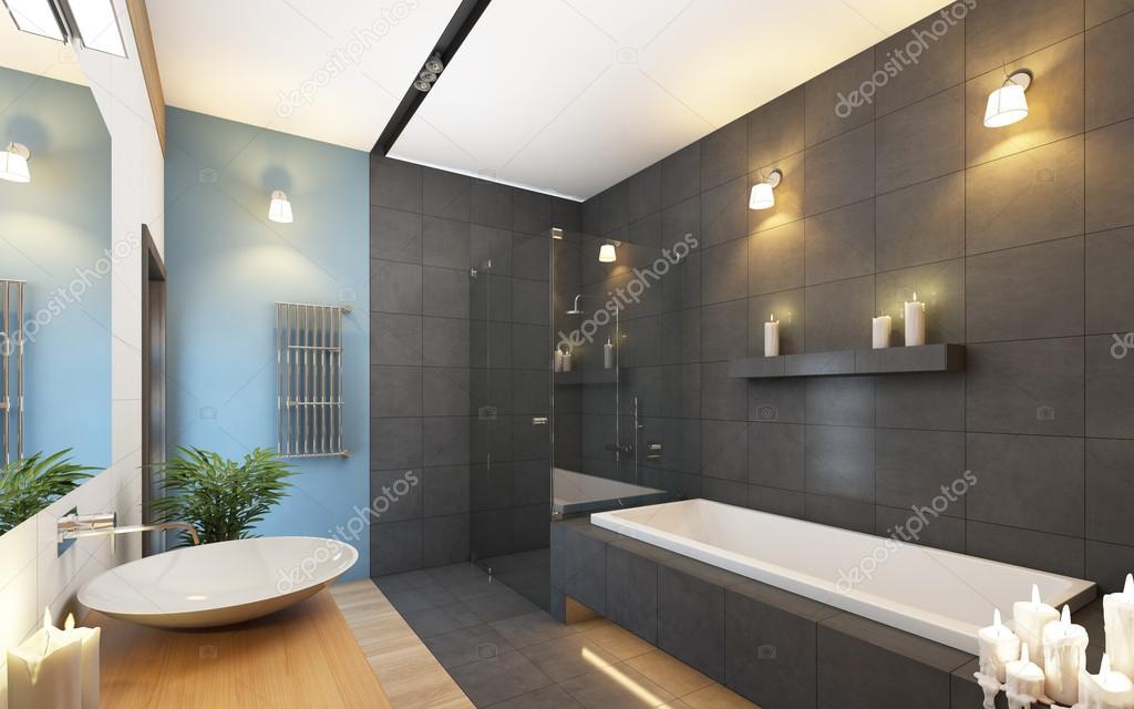 Ванная комната серого цвета фото