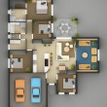 Floor Plan Of Residential House — Stock Photo #17351641