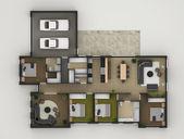 Floor Plan Of Residential House — Stock Photo