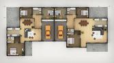Planritning i bostadshus — Stockfoto