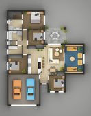 Floor Plan Of Residential House — Stock Photo