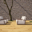 Royalty-Free Stock Photo: Chairs at the terrace
