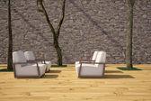 Krzesła na tarasie — Zdjęcie stockowe