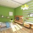 Teen's Room With Colored Wall — Stock Photo #19606509