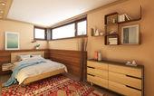 村の家の寝室 — ストック写真