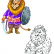 Royalty-Free Stock Photo: Lion warrior