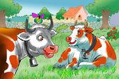 Grazing cows — Stock Photo
