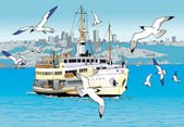 Istanbul bosphorus — Stock Photo
