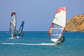 Windsurf at Prassonissi beach — Stock Photo