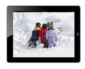 Children playing in the snow — Stock Photo