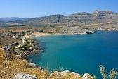 Seaside landscape in Rodos / Agathi — Stock Photo