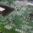 Microchip, printed circuit board — Stock Photo