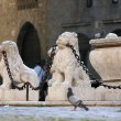 Fountain in old town — Stock Photo
