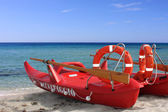 A red lifeboat — Stock Photo