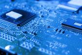 Microchip, printed circuit board — Stock Photo