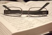 Eyewear on a Bible — Stock Photo