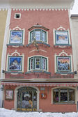 Beautiful houses of Vipiteno — Stock Photo