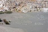 Sahilde taş sembolleri — Stok fotoğraf