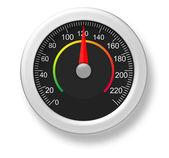 A 3d speedometer — 图库照片