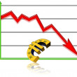 Graphic about the financial crisis — Stock Photo