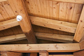 Ceiling with exposed beams — Stock Photo