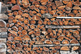 Piled up firewood — Stock Photo