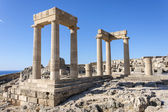 The acropolis of Lindos, Rhodes — Stock Photo