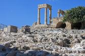 The acropolis of Lindos, Rhodes — Stock Photo