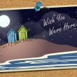 Beach Postcard On Noticeboard 2 — Image vectorielle